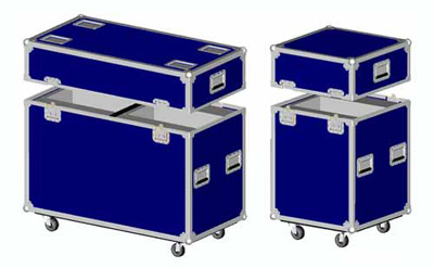 Blue RK Lighting Case for Two Moving Head Lighting