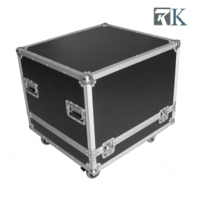 Speaker cases - RKSpker3 is Full ATA touring spec flight case with two being braked