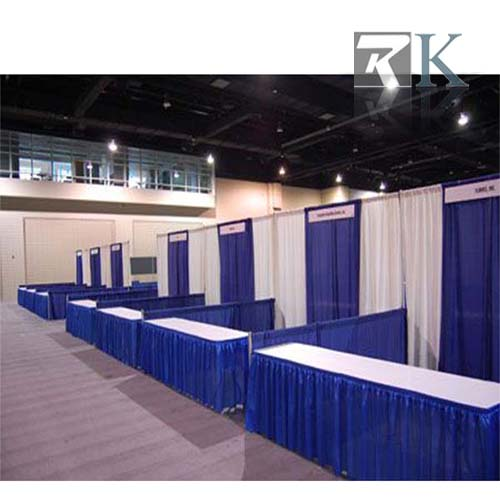 Pipe and drape trade show booth Design_RKITEMA